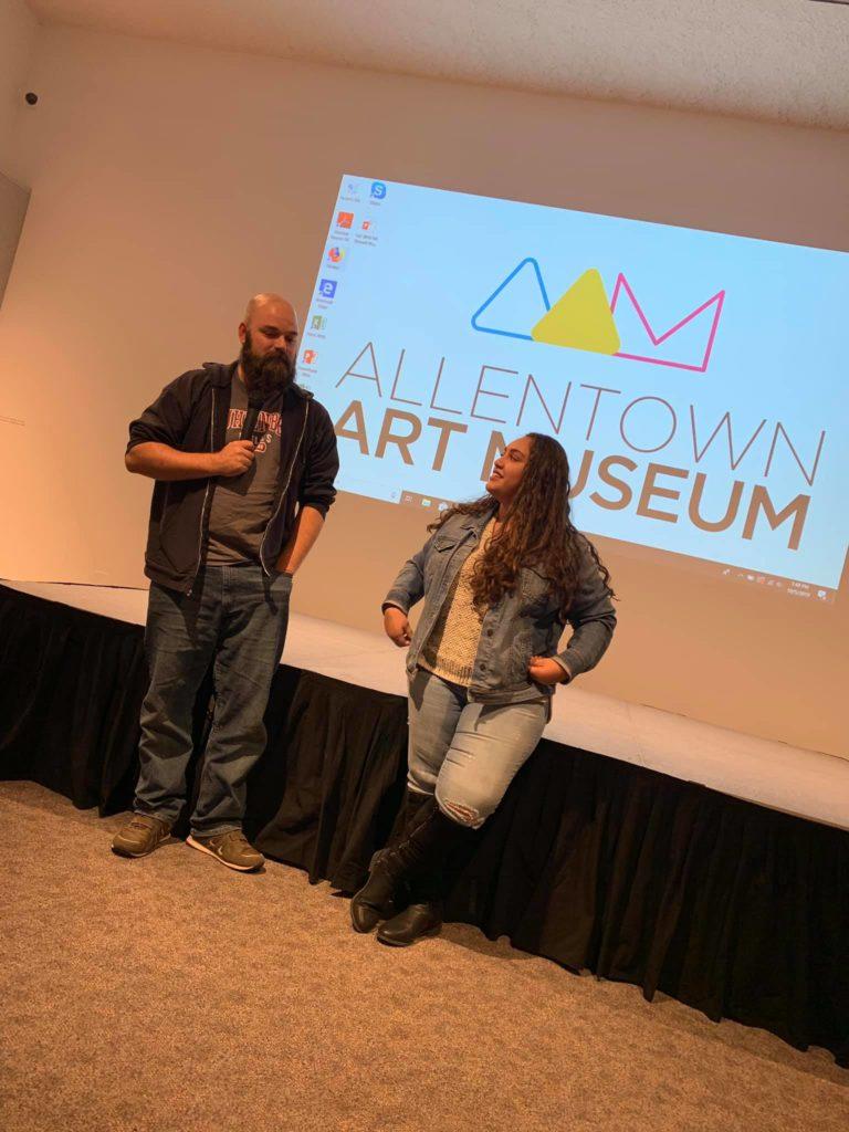 Tony Dalton and Gracie Santana at Allentown Art Museum Event